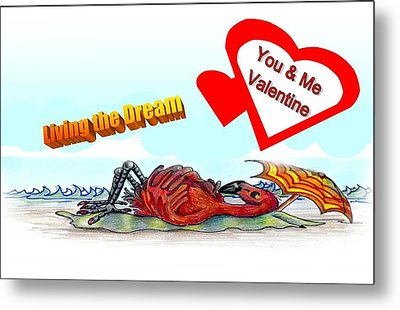 You And Me Valentine Metal Print by Carol Allen Anfinsen