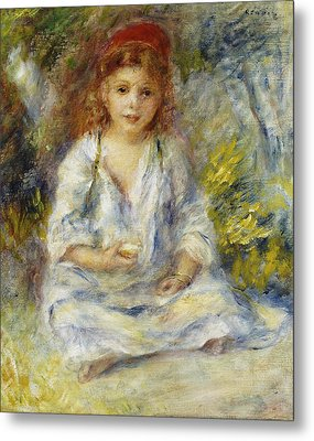 Young Algerian Girl Metal Print by Pierre Auguste Renoir