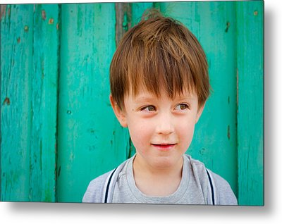 Young Child Metal Print by Tom Gowanlock