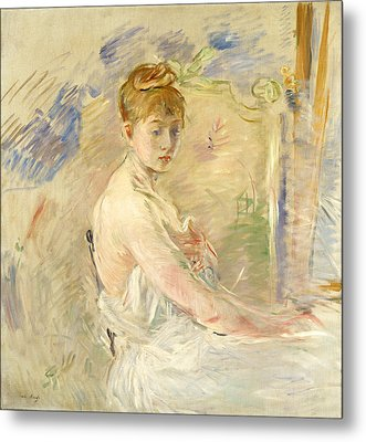 Young Girl Getting Up Metal Print by Berthe Morisot