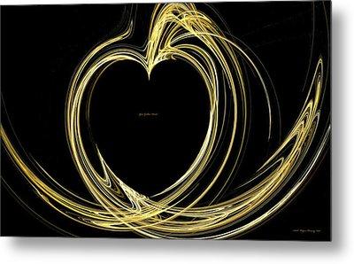 Your Golden Heart Metal Print by Wayne Bonney