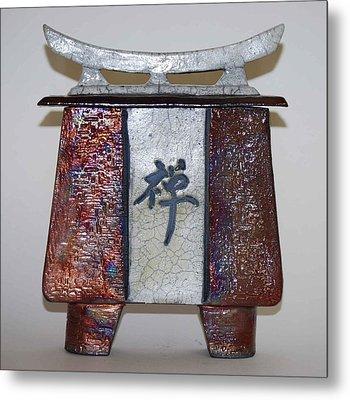 Zen Vessel - Med Metal Print by Victoria Page