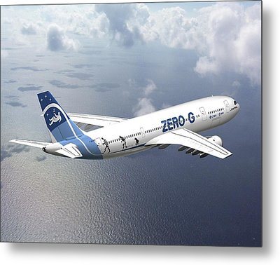 Zero-g Airbus Aircraft, Artwork Metal Print by David Ducros