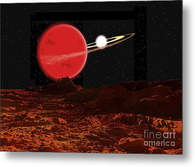 Zeta Piscium Is A Binary Star System Metal Print by Ron Miller
