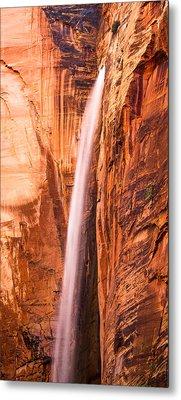 Zion Waterfall Metal Print by Adam Pender