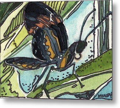 Zippy The Butterfly Metal Print by Mindy Newman