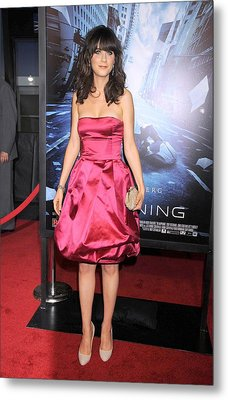 Zooey Deschanel At Arrivals For New Metal Print by Everett
