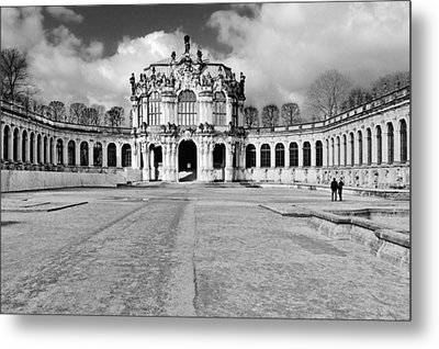 Zwinger Dresden Rampart Pavilion - Masterpiece Of Baroque Architecture Metal Print by Christine Till
