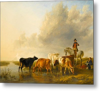 A Summer Evening Metal Print by Thomas Sidney