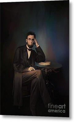 Abraham Lincoln Metal Print by Andrzej Szczerski