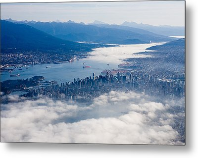 An Aerial View Of Vancouver Metal Print by Taylor S. Kennedy