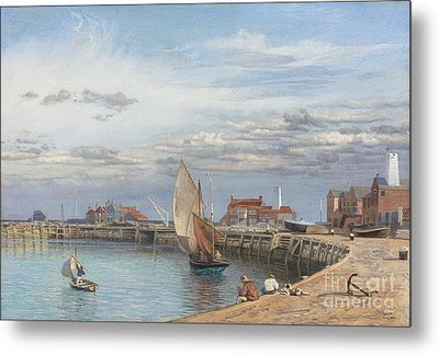 Entrance To Yarmouth Harbour Metal Print by Celestial Images