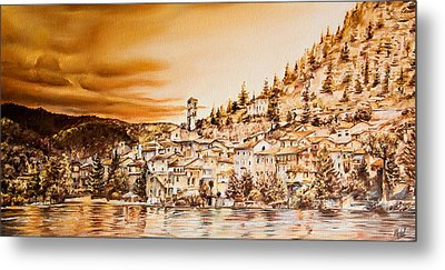 Golden Reflections Metal Print by Michel Angelo Rossi