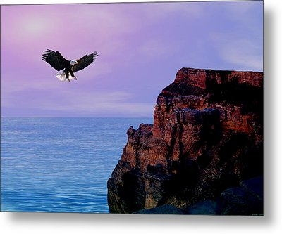 I'm Free To Fly Metal Print by Evelyn Patrick
