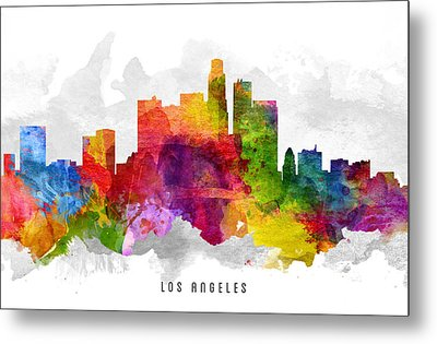 Los Angeles California Cityscape 13 Metal Print by Aged Pixel
