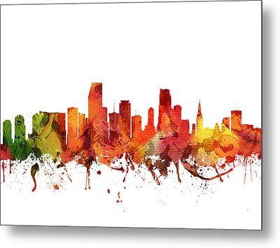 Miami Cityscape 04 Metal Print by Aged Pixel
