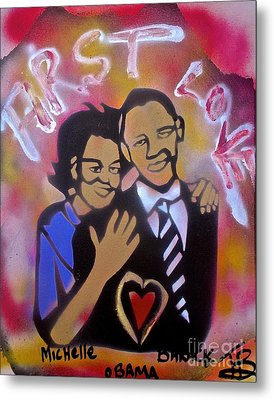 Obama First Love... Metal Print by Tony B Conscious