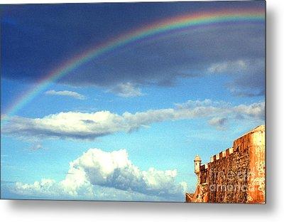 Rainbow Over El Morro Fortress Metal Print by Thomas R Fletcher