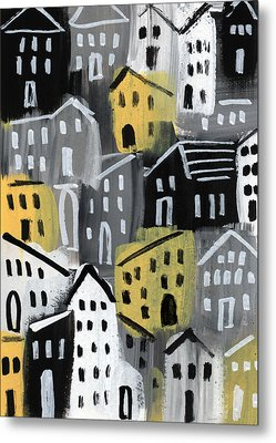 Rainy Day - Expressionist Art Metal Print by Linda Woods