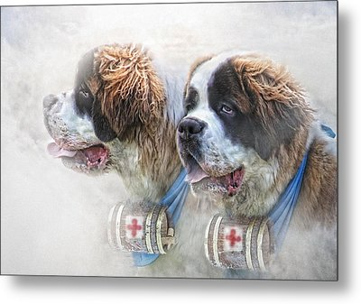 Saviours In The Snow Metal Print by Trudi Simmonds