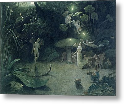 Scene From 'a Midsummer Night's Dream Metal Print by Francis Danby
