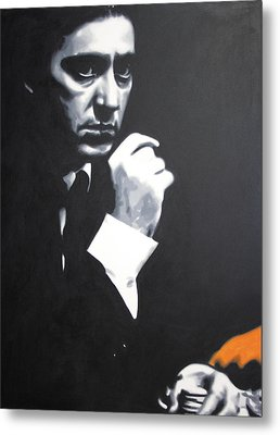 - The Godfather - Metal Print by Luis Ludzska