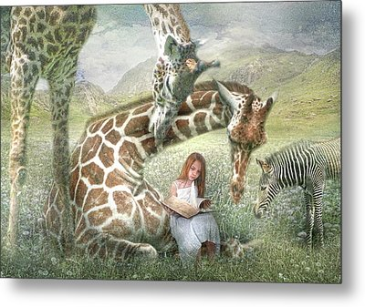 The Reading Room Metal Print by Trudi Simmonds