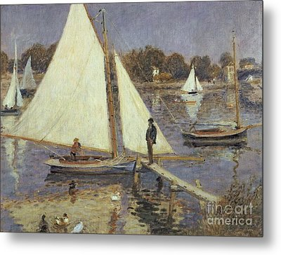 The Seine At Argenteuil Metal Print by Pierre Auguste Renoir