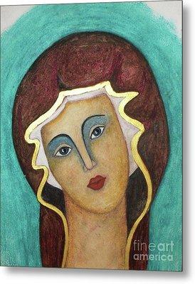 Virgin Mary Metal Print by Vesna Antic