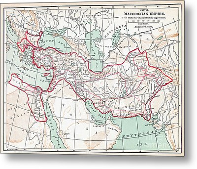 Map Of Macedonian Empire Metal Print by Granger