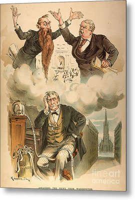 Cartoon: Panic Of 1893 Metal Print by Granger
