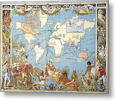 Map: British Empire, 1886 Metal Print by Granger