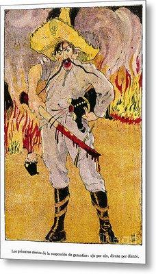 Mexico: Political Cartoon Metal Print by Granger