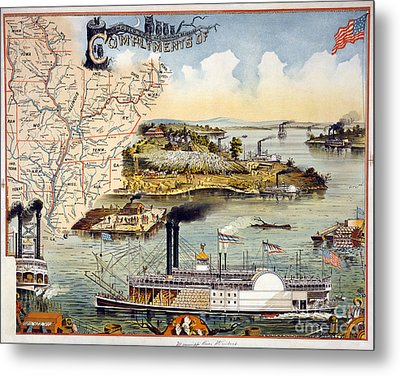 Mississippi Steamboat Metal Print by Granger
