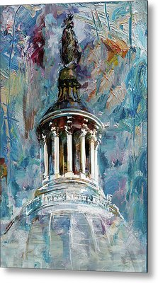 063 United States Capitol Dome Metal Print by Maryam Mughal