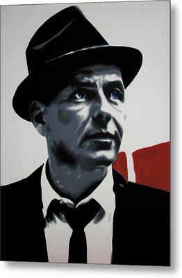 - Sinatra - Metal Print by Luis Ludzska