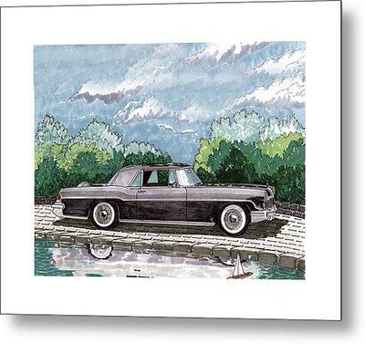 1956  Lincoln Continental Mk II Metal Print by Jack Pumphrey