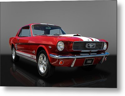 1966 Ford Mustang Coupe Metal Print by Frank J Benz