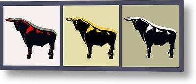 3 Bulls Metal Print by Slade Roberts