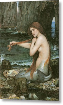 A Mermaid Metal Print by John William Waterhouse