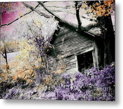 Abandoned Metal Print by Mindy Sommers