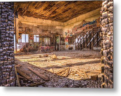 Abandoned School House Metal Print by Spencer McDonald