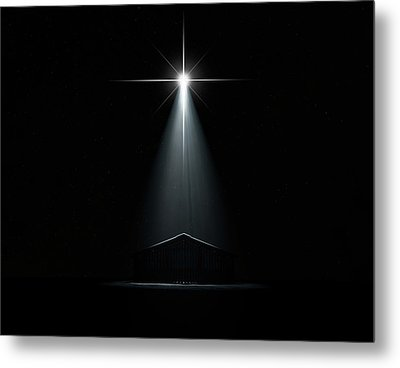 Abstract Nativity Scene Metal Print by Allan Swart