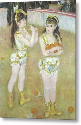 Acrobats At The Cirque Fernando, Francisca And Angelina Wartenberg Metal Print by Pierre Auguste Renoir