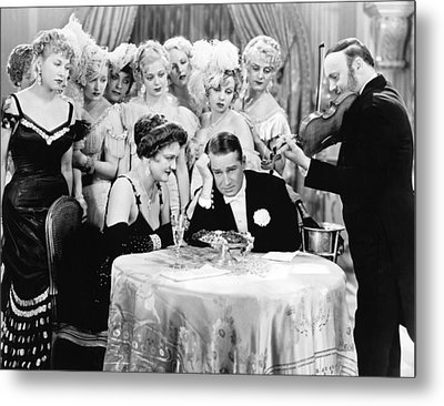 Actor Maurice Chevalier Metal Print by Underwood Archives