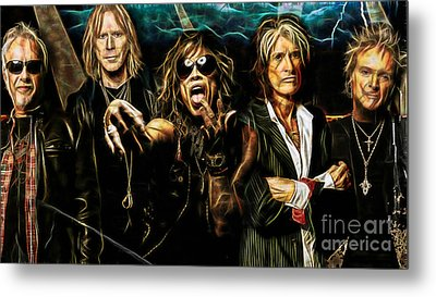 Aerosmith Collection Metal Print by Marvin Blaine