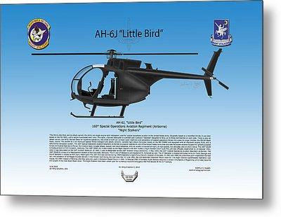 Ah-6j Little Bird Metal Print by Arthur Eggers