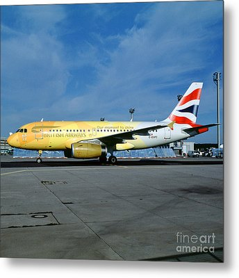 Airbus A319-131, British Airways, G-eupc, Olympic Torch Relay, O Metal Print by Wernher Krutein