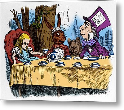 Alice In Wonderland Metal Print by Photo Researchers, Inc.