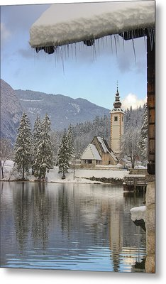 Alpine Winter Clarity Metal Print by Ian Middleton